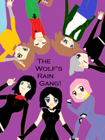Wolf's Rain Gang with Raven by poisonraven5