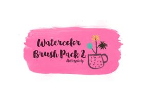 Watercolor Brush Pack 2 by dlolleyshelp