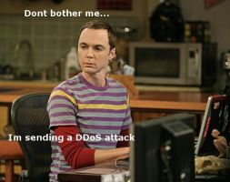 Sheldon Sends DDoS Attacks by DrSheldonCooperPhD
