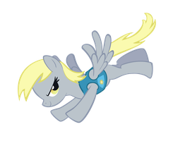 Derpy in Winter Wrapup by Tenchi-Outsuno