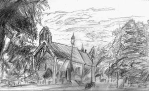 Church Sketch by PhoenixGR