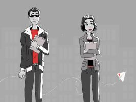Romanoff and Barton Disney Paperman by AvengerBlackwidow