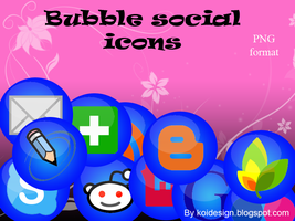 bubble social icons by koidesign