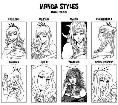 Manga Styles with Hani Hachi by mongrelmarie