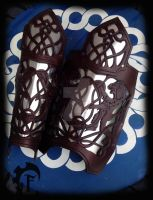 Celtic plate greaves by Feral-Workshop