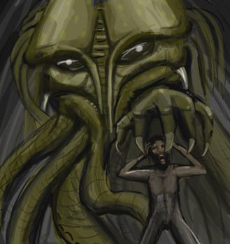 Cthulu by necrophadian