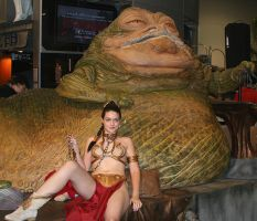 Leia placates Jabba by Thesifer
