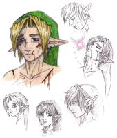 Sad Link Sketches by LilleahWest