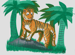3 Marker Challenge - Tiger in the Jungle by RynnLight