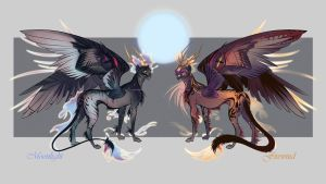 Moonlight and Firewind Auction [close] by Furrirama