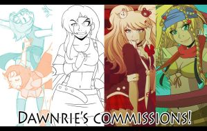 .:Commissions: OPEN:. by Dawnrie