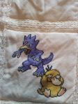 Pokemon quilt cross stitch - Square 4 by cardinalchang