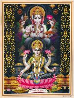 Lakshmi and Ganesha by Phaedris