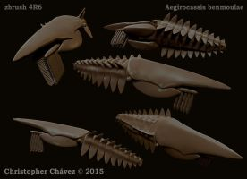 Aegirocassis benmoulae WIP by Christopher252