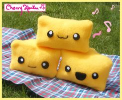 cutie cheese plushies by CherryAbuku