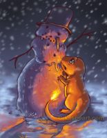 Charred Snowman by kalicothekat