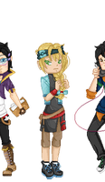 Pixel OC Group by MelodicSoul