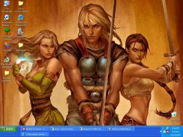My desktop Oct 2007 by Nagabonar-an