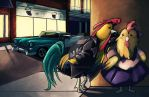 Why Did The Chicken Cross The Road? by AngryArtist113