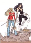 Wonder Girl and Donna Troy by CrimsonArtz