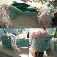 Unicorn Pencil Case by TheEpicWingedWolf