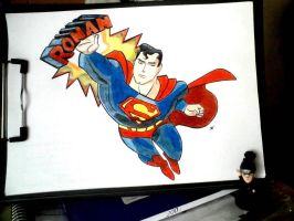I drew this Superman for my 7 year old cousin. :) by NekoRish94