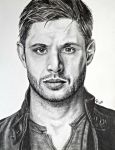 Pencil Dean Winchester/Jensen Ackles II by LoveYouLikeSin