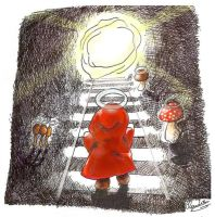 Red Riding Hood finds th light by Angiecla