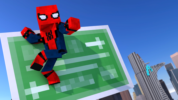 Spider-Man Homecoming Poster -Minecraft 2 by Gaming-With-Xerxes
