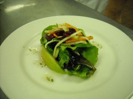 Mesclun Cranberry Apple Salad by FrogsRSexy