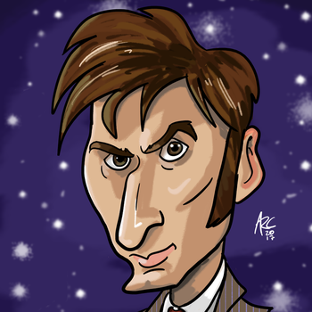 Tenth Doctor Caricature by WesleyRiot