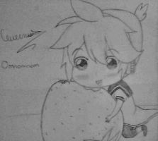 Len Eating a Strawberry by chifferon101