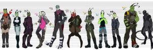 Character Line Up by TheEvilTeaDrinker