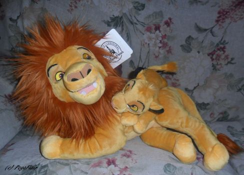 ~ Disney Parks - Mufasa and Simba Plush ~ by Pega-Flair