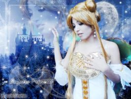 MaryPluMoon as Queen Serenity by carolmanachan