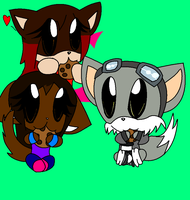 Jessica, Kimiya and Nelson eat a cookie by loue1