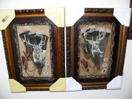 Elk and Deer Feather Set by dittin03