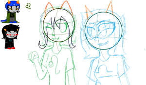 Nepeta and Terezi wip by SamTheHedgehog890