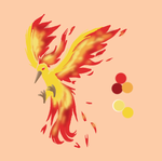 Tierra's Moltres Tattoo by MidnightTheUmbreon
