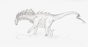 Amargasaurus by daddyconnolly