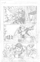 Snowmanilas #3, Page 7 PENCILS by Theamat
