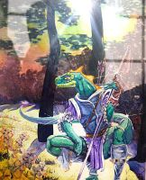 Lizardman Ranger painting by DiMaio