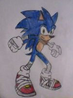 Sonic the hedgehog(sonic boom) colored. by brandonale