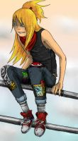Punk Rock Deidara by yukarilolz