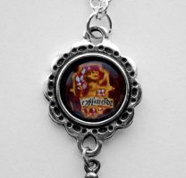 Hand Painted Gryffindor crest pendant Necklace by LunaAshley