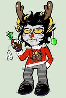 Mentis the red nose Reindeer by ISZK-tv