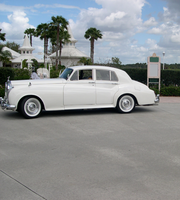 White Rolls in front of Wedding Pavilion by WDWParksGal-Stock