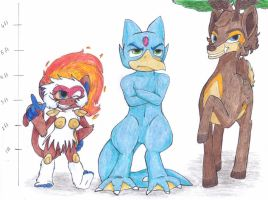 SXL- Height Comparisons + Full-Body Reference by MiyakuBubbles