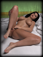Hot Naked Girl / Danni Kalifornia - One Finger by gajeco