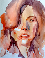 loose female watercolour by Neivan-IV